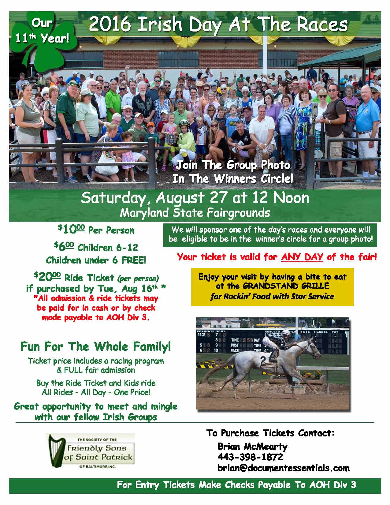 Day at the Races Flyer 2016 - FSSP